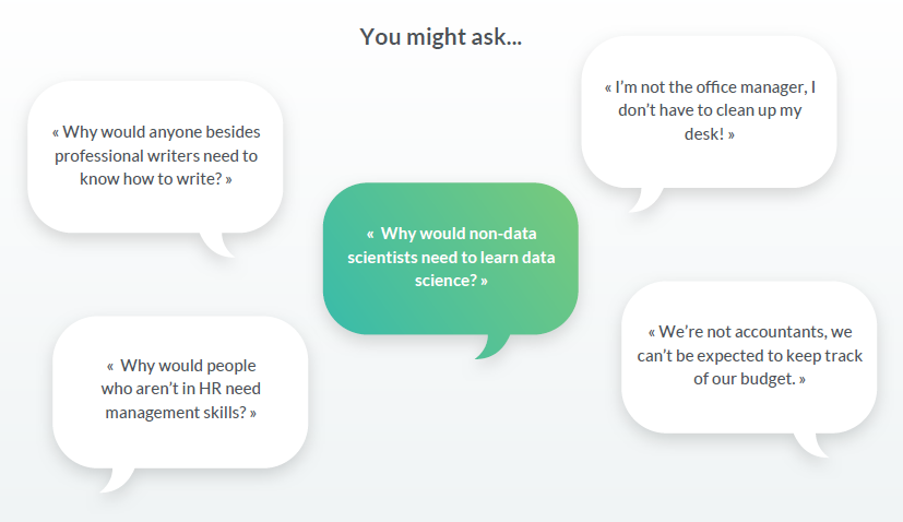 Democratising data science in your organisation