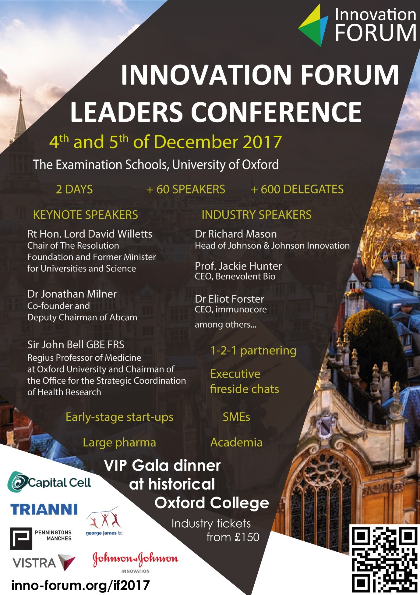 Oxford to welcome industry leaders, academics and policy makers